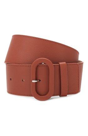 Женский кожаный ремень LORO PIANA коричневого цвета, арт. FAL0392   Фото 1 (Материал: Кожа)