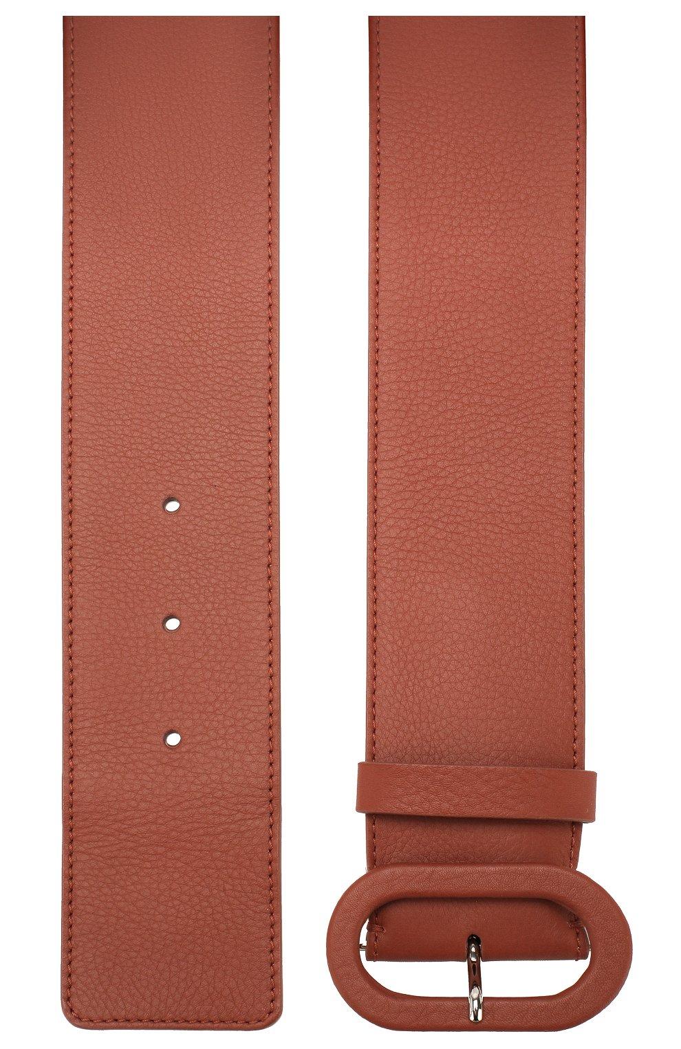 Женский кожаный ремень LORO PIANA коричневого цвета, арт. FAL0392   Фото 2