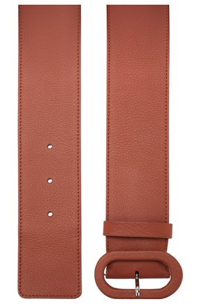 Женский кожаный ремень LORO PIANA коричневого цвета, арт. FAL0392   Фото 2 (Материал: Кожа)