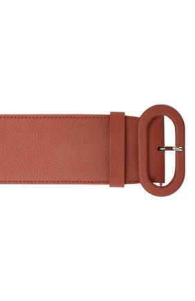 Женский кожаный ремень LORO PIANA коричневого цвета, арт. FAL0392   Фото 3
