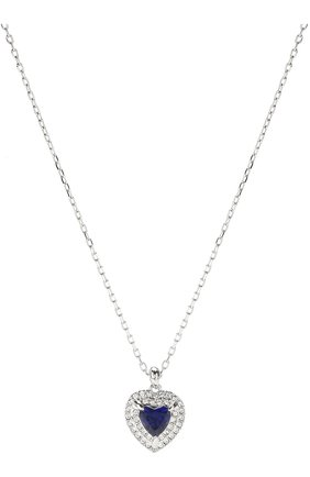 Женская кулон heart на цепочке SWAROVSKI серебряного цвета, арт. 5511541   Фото 2