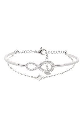 Женский браслет infinity SWAROVSKI серебряного цвета, арт. 5520584 | Фото 1