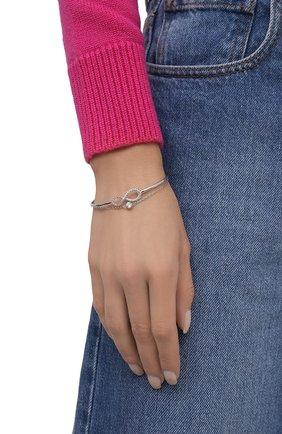 Женский браслет infinity SWAROVSKI серебряного цвета, арт. 5520584 | Фото 2