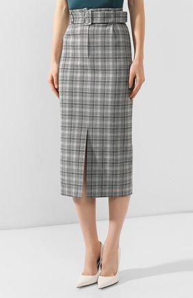 Женская юбка BOSS серого цвета, арт. 50420054 | Фото 3