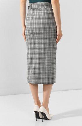 Женская юбка BOSS серого цвета, арт. 50420054 | Фото 4