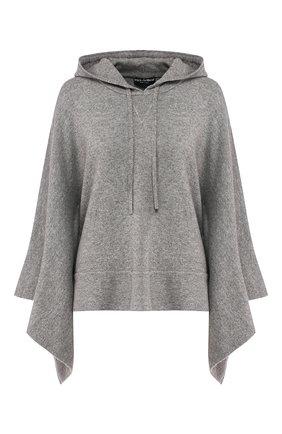 Женская кашемировый пуловер с капюшоном DOLCE & GABBANA светло-серого цвета, арт. FX512T/JAWPZ | Фото 1