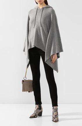 Женская кашемировый пуловер с капюшоном DOLCE & GABBANA светло-серого цвета, арт. FX512T/JAWPZ | Фото 2