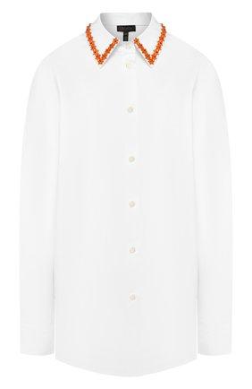 Женская хлопковая рубашка ESCADA белого цвета, арт. 5032561 | Фото 1