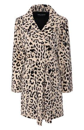 Женское пальто из смеси хлопка и вискозы DOLCE & GABBANA леопардового цвета, арт. F0X93T/FSPAH | Фото 1