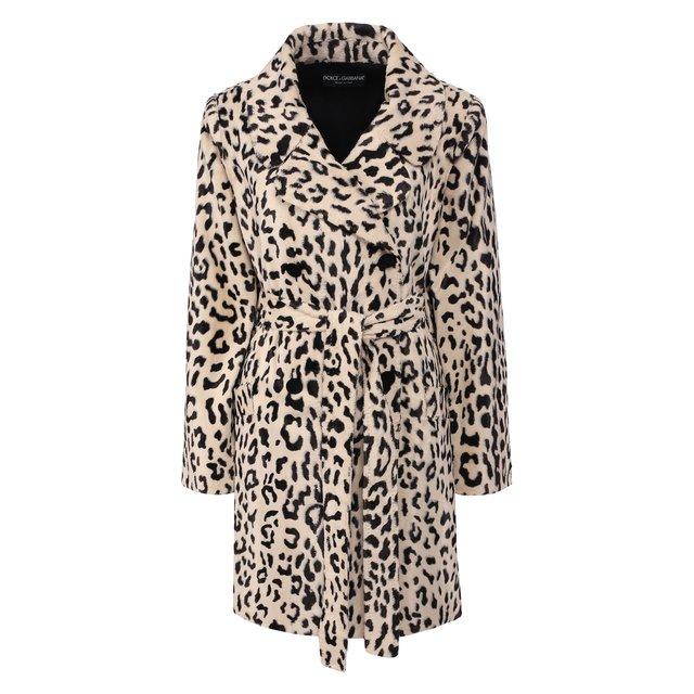 Пальто из смеси хлопка и вискозы Dolce & Gabbana