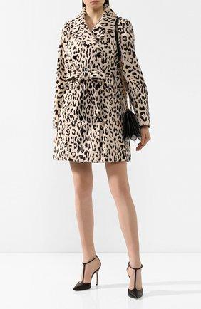 Женское пальто из смеси хлопка и вискозы DOLCE & GABBANA леопардового цвета, арт. F0X93T/FSPAH | Фото 2