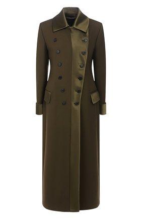 Женское шерстяное пальто TOM FORD хаки цвета, арт. CP1490-FAX572 | Фото 1