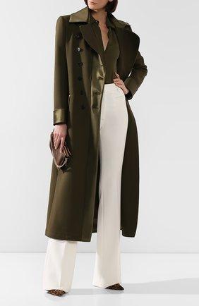 Женское шерстяное пальто TOM FORD хаки цвета, арт. CP1490-FAX572 | Фото 2
