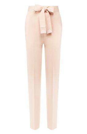 Женские брюки из смеси кашемира и шелка LORO PIANA светло-розового цвета, арт. FAI6718   Фото 1