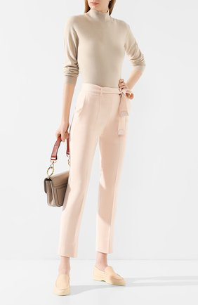 Женские брюки из смеси кашемира и шелка LORO PIANA светло-розового цвета, арт. FAI6718   Фото 2