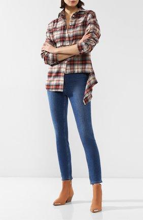 Женские джинсы PAIGE синего цвета, арт. 5845E77-6449 | Фото 2