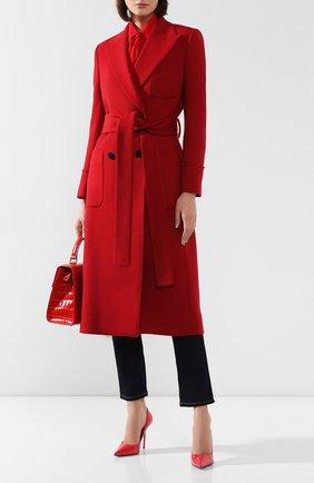 Женское шерстяное пальто DOLCE & GABBANA красного цвета, арт. F0Y58T/FU3I5 | Фото 2