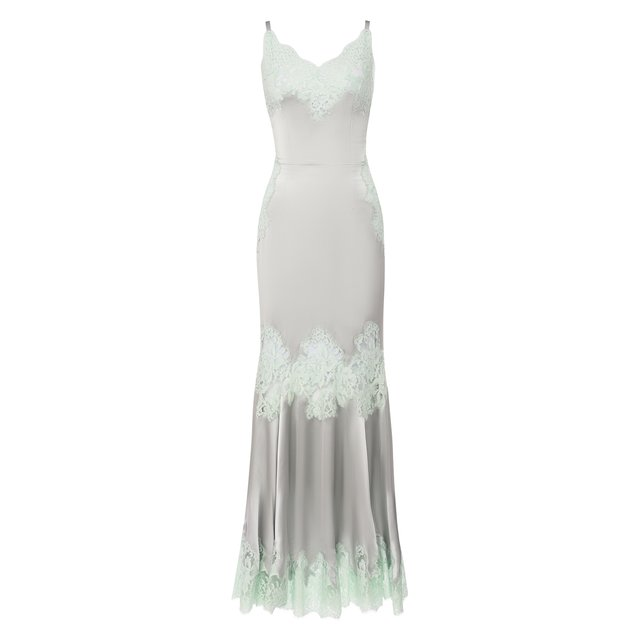 Платье из смеси шелка и хлопка Dolce & Gabbana