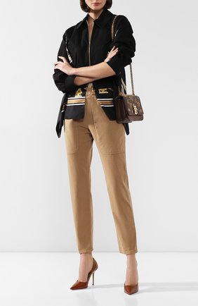 Женские хлопковые брюки BRUNELLO CUCINELLI бежевого цвета, арт. MA081P5509 | Фото 2