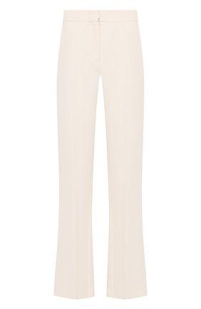Женские брюки из смеси шерсти и шелка VALENTINO бежевого цвета, арт. TB3RB3L51CF | Фото 1