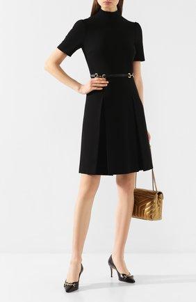 Женское платье GUCCI черного цвета, арт. 598881/XJBY0   Фото 2