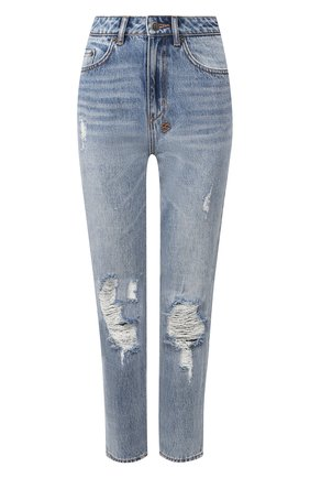 Женские джинсы с потертостями KSUBI голубого цвета, арт. 5000004177 | Фото 1