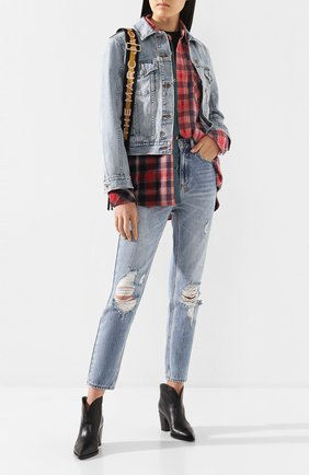 Женские джинсы с потертостями KSUBI голубого цвета, арт. 5000004177 | Фото 2