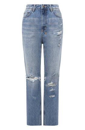 Женские джинсы с потертостями KSUBI голубого цвета, арт. 5000004488 | Фото 1