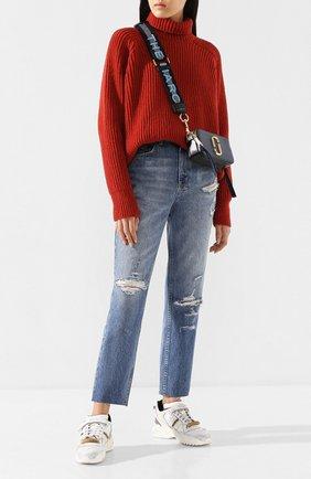 Женские джинсы с потертостями KSUBI голубого цвета, арт. 5000004488   Фото 2