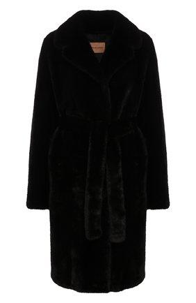 Женская шуба из меха норки YVES SALOMON темно-синего цвета, арт. 20WYM33995VFLX | Фото 1