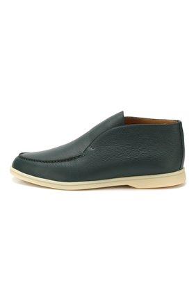 Мужские кожаные ботинки open walk LORO PIANA зеленого цвета, арт. FAL0319   Фото 3