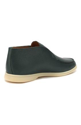 Мужские кожаные ботинки open walk LORO PIANA зеленого цвета, арт. FAL0319   Фото 4