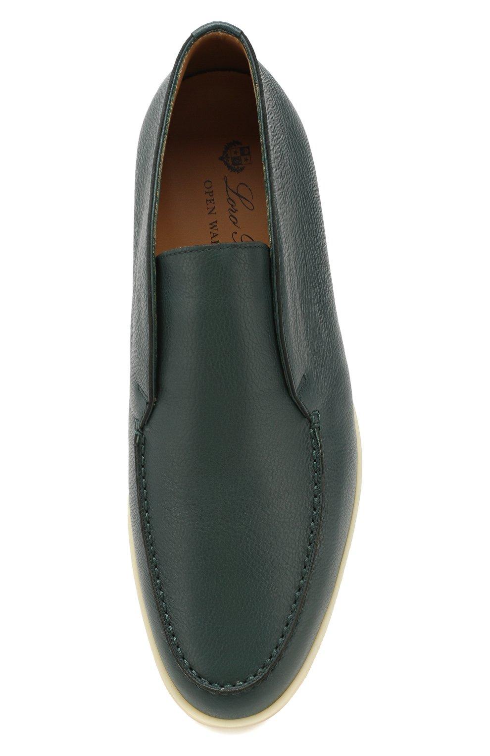 Мужские кожаные ботинки open walk LORO PIANA зеленого цвета, арт. FAL0319   Фото 5