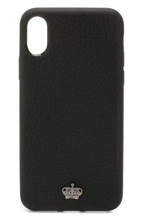 Мужской кожаный чехол для iphone x DOLCE & GABBANA черного цвета, арт. BP2408/AJ773 | Фото 1