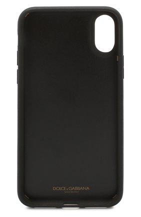 Мужской кожаный чехол для iphone x DOLCE & GABBANA черного цвета, арт. BP2408/AJ773 | Фото 2
