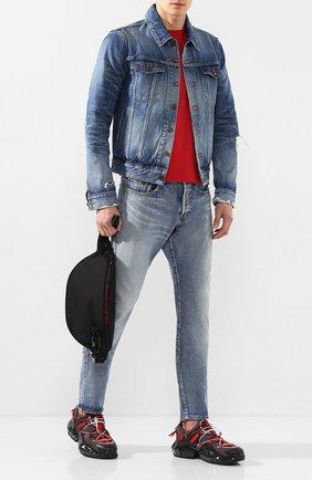 Мужская джинсовая куртка SAINT LAURENT синего цвета, арт. 602709/YG750 | Фото 2