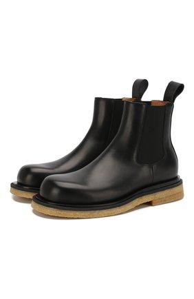 Мужские кожаные челси BOTTEGA VENETA черного цвета, арт. 608746/VIFH0 | Фото 1
