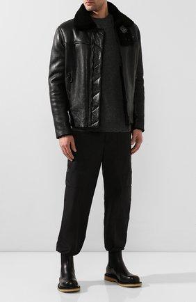 Мужские кожаные челси BOTTEGA VENETA черного цвета, арт. 608746/VIFH0 | Фото 2