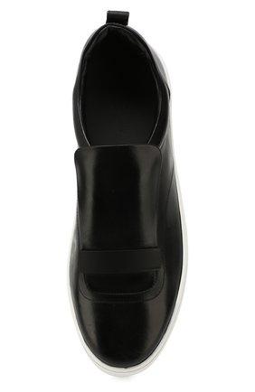 Мужские кожаные слипоны SERGIO ROSSI черного цвета, арт. A86980-MMV117 | Фото 5