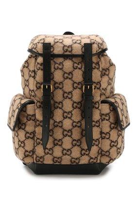 Мужской текстильный рюкзак GUCCI бежевого цвета, арт. 598184/G38GT | Фото 1