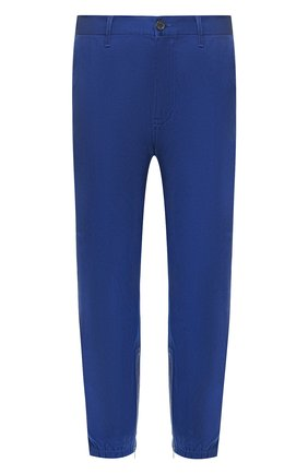 Мужской хлопковые брюки GUCCI синего цвета, арт. 604187/XDA1R | Фото 1