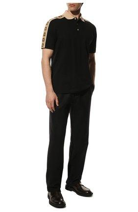 Мужское хлопковое поло GUCCI черного цвета, арт. 598949/XJB0Q | Фото 2
