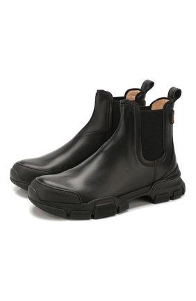 Мужские кожаные челси GUCCI черного цвета, арт. 592861/DTN50 | Фото 1