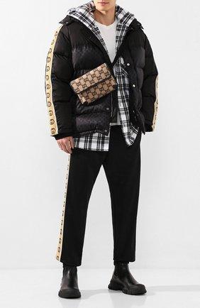Мужские кожаные челси GUCCI черного цвета, арт. 592861/DTN50 | Фото 2