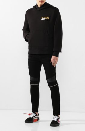 Мужской хлопковое худи AMIRI черного цвета, арт. S0M02129TE | Фото 2