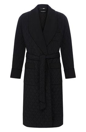 Мужской стеганое пальто DOLCE & GABBANA черного цвета, арт. G9RP9T/G7VCP | Фото 1
