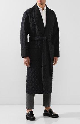 Мужской стеганое пальто DOLCE & GABBANA черного цвета, арт. G9RP9T/G7VCP | Фото 2