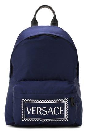 Мужской текстильный рюкзак VERSACE темно-синего цвета, арт. DFZ5350/DNYVER | Фото 1