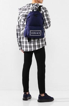 Мужской текстильный рюкзак VERSACE темно-синего цвета, арт. DFZ5350/DNYVER | Фото 2