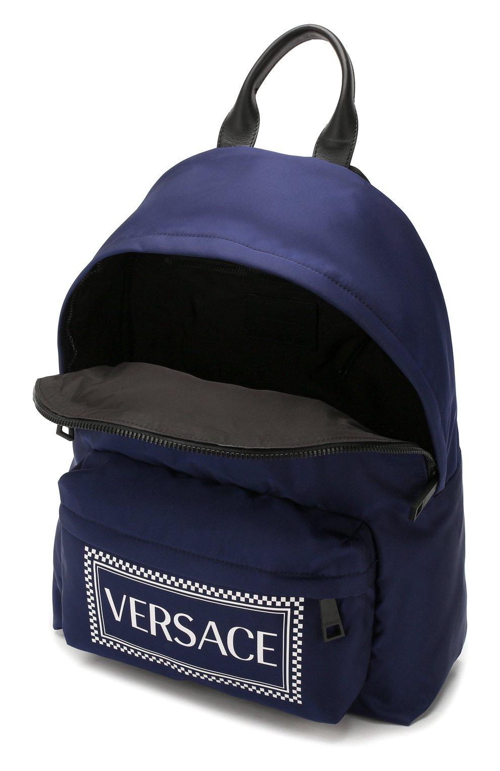 Мужской текстильный рюкзак VERSACE темно-синего цвета, арт. DFZ5350/DNYVER | Фото 4